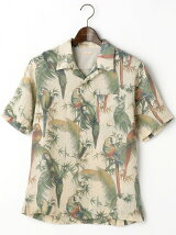 マカウプリント オープンシャツ