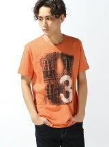 (M)クラフトプリント半袖Tシャツ・カットソーUDDW1