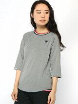 (W)T/Cベア天7分袖Tシャツ