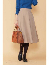 N. Natural Beauty Basic フレアミモレスカート エヌ ナチュラルビューティーベーシック* スカート スカートその他 グリーン ベージュ イエロー ブルー ネイビー オレンジ【送料無料】