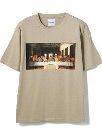 【SALE/71%OFF】LHP La vie estbelle/ラ・ヴィエベル/アートプリントTシャツ/Art Print T-Shirts/Lavieestbelle/ラヴィエベル エルエイチピー カットソー Tシャツ ベージュ ホワイト ブラック