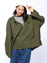 (W)フードミリタリープルシャツ