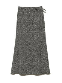 【SALE/30%OFF】SNIDEL プリントラップSK スナイデル スカート スカートその他 ブラック ブルー グリーン【送料無料】
