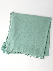【SALE/40%OFF】UNITED ARROWS green label relaxing CFC コットン タッセル ストール ユナイテッドアローズ グリーンレーベルリラクシング ファッショングッズ ストール グリーン ホワイト ブラウン ピンク