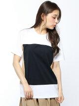 ALOYE×Ray BEAMS / 別注 カラーブロック Tシャツ レイビームス