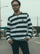 BORDER LONG SLEEVE T-SHIRT