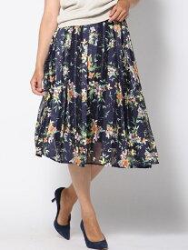【SALE/70%OFF】Viaggio Blu フラワープリントスカート ビアッジョブルー スカート スカートその他 ネイビー ホワイト【送料無料】