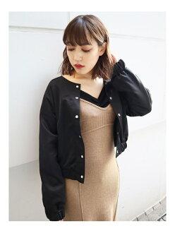 EMODA リバーシブルコンパクトブルゾンエモダコート / jacket blouson black beige