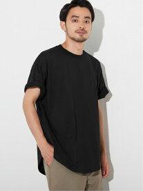 coca テールカットシルキーコットンTシャツ コカ カットソー Tシャツ ブラック カーキ ネイビー ホワイト