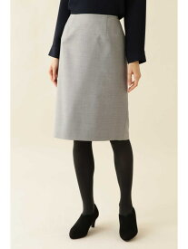 NATURAL BEAUTY BASIC [洗える]ウォッシャブルサキソニーセットアップスカート ナチュラルビューティベーシック スカート スカートその他 グレー ネイビー【送料無料】