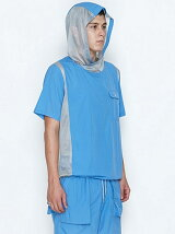 POCKETABLE HOODED PULLOVER SHIRTS S/S_NYLON