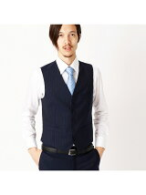 スーツとあわせて3ピース対応できるベスト スーツ セットアップ