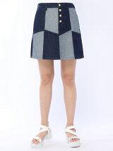 【BROWNY STANDARD】(L)リメイクワークAラインスカート