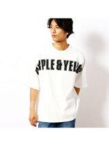 空紡スムースロゴビッグ半袖Tシャツ