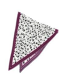 Couture brooch 【WEB限定販売】casselini(キャセリーニ)プリーツアニマルスカーフ クチュールブローチ ファッショングッズ スカーフ/バンダナ パープル ブラウン【送料無料】