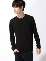 (M)ビスコース混クルーネックニット・セーター