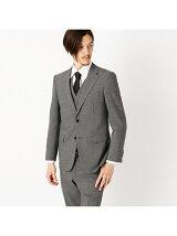 すっきりとした細身シルエットの3ピーススーツ スーツ セットアップ