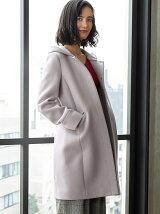 ◆KF W 2WAY ノーカラー HOOD コート