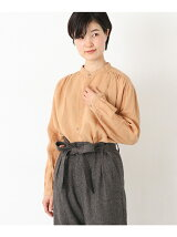 ICHI Antiquites LINEN PERSIMMON SHIRTS