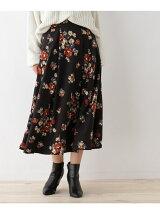 花柄フレアミディスカート