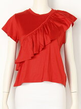 BACK OPEN FRILL CUT TOPS