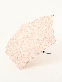 Afternoon Tea 水彩ドット柄晴雨兼用軽量折りたたみ傘雨傘 アフタヌーンティー・リビング ファッショングッズ 日傘/折りたたみ傘 ピンク ネイビー
