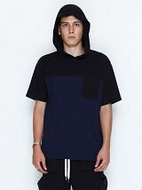 SID SLIT HOODED POCKET T-SHIRTS_PILE