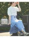 【SALE/40%OFF】Noela ボリュームフレアスカート ノエラ スカート ロングスカート ブルー ネイビー ピンク ブラウン …
