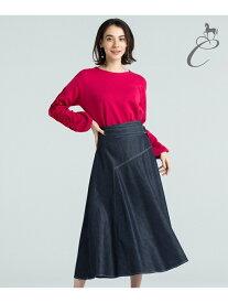 【SALE/60%OFF】自由区 【ClassLounge】ZENスカート ジユウク スカート スカートその他 ネイビー ホワイト【送料無料】