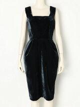 Ladyベロアコクーンドレス