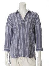 【13号】ワイドスキッパーネックシャツ《Reana-α》