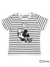 ボーダーTシャツ(ミッキーマウス)