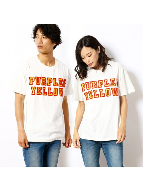空紡天竺ロゴさがら刺繍半袖Tシャツ