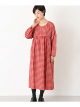 ICHI Antiquites W/L GINGHAM ONE-PIECE