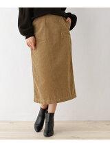 太コーデュロイミディタイトスカート