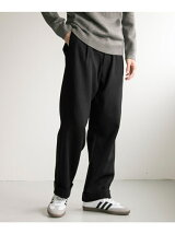 Wool tuck wide pants