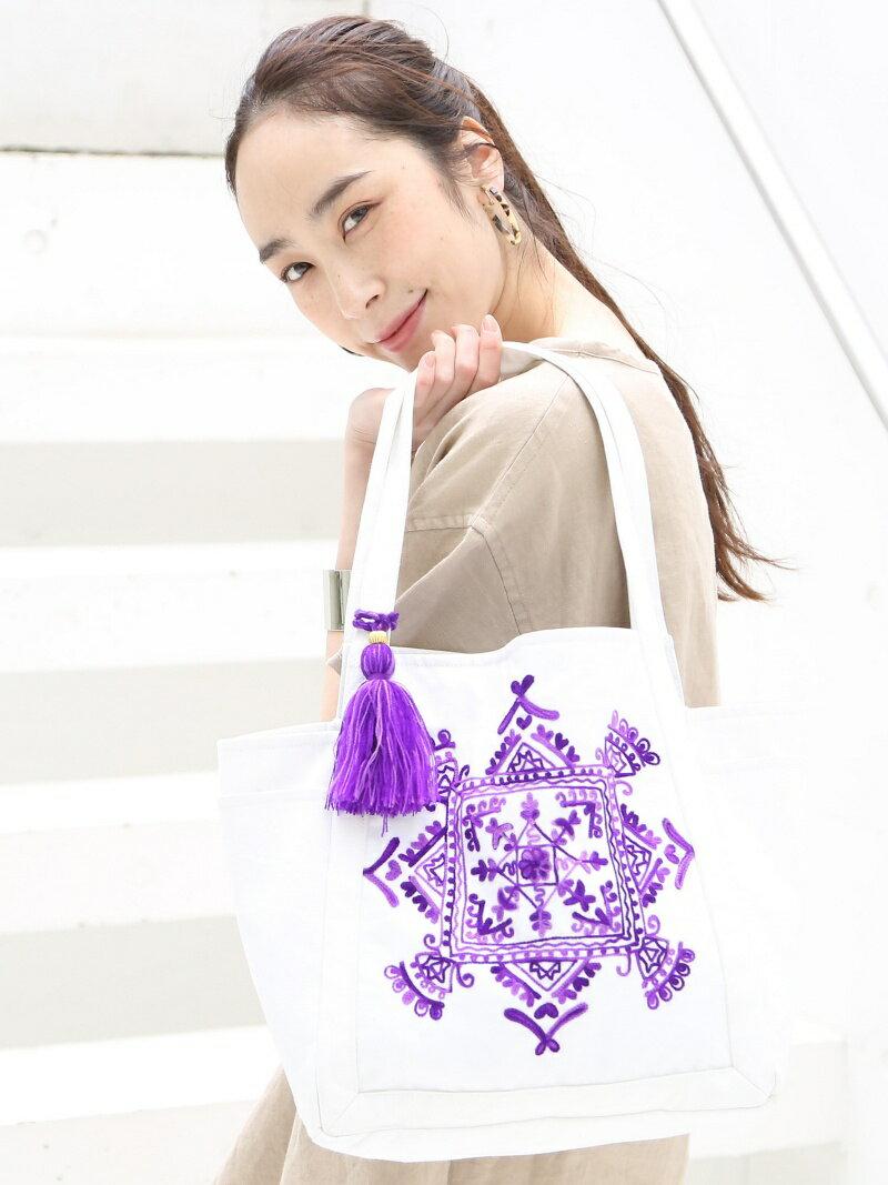 coen 【Market】エンブロイダリー刺繍トートバッグ Mサイズ コーエン バッグ【先行予約】*