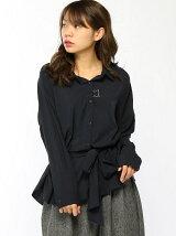 【Rydia】コビニャーウエストリボン付きシャツ