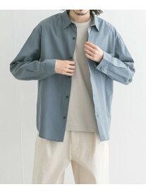 URBAN RESEARCH Lab. テンセルコットンシャツ アーバンリサーチ シャツ/ブラウス シャツ/ブラウスその他 ブルー グレー ブラウン【送料無料】