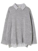 SET2点 スキッパーシャツ+ニットプルオーバー