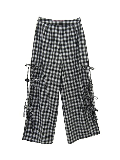 sideribbon gingham pants