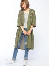 (L)ローン刺繡ガウン