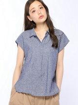 綿麻スキッパーシャツ