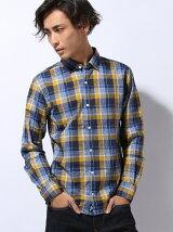 (M)チェックダブルフェイスシャツ