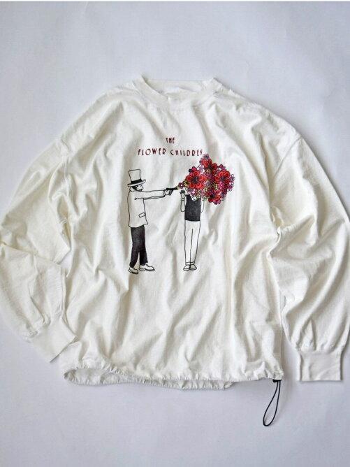 REMI RELIEF(レミレリーフ) 別注16/-天竺ロングTシャツ フラワーチルドレン