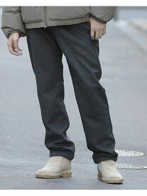 【SALE/50%OFF】BEAMS MEN BEAMS / Wool Mix Easy Pants ビームス メン パンツ/ジーンズ フルレングス グレー ブラック【送料無料】