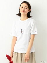 Champion×BEAMS BOY / 別注 ミニ ミッキーマウス ポケットTシャツ Disney(ディズニー)