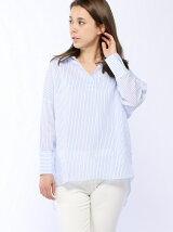 バックデザインストライプシャツ