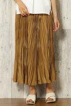 (L)Eボイルプリーツマキシスカート