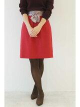 カラーサッシュスカーフ付スカート
